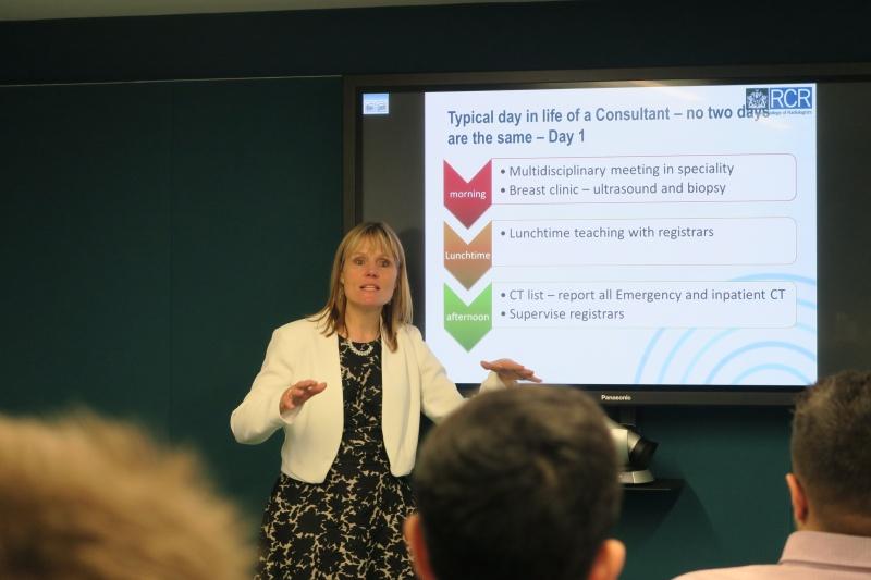 Dr Sarah McWilliams presenting to URSA