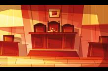 Illustration of a courtroom