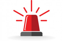 Illustration of a red alert light