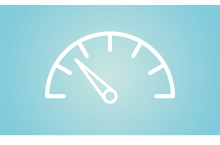 A fuel gauge indicating that the tank is nearly empty