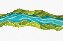 Graphic of a winding river