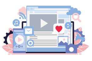 Illustration of social media platforms