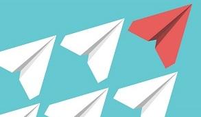 Leadership paper aeroplane image