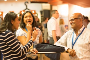Members networking at a conference