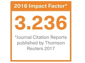 Badge to show Clinical Oncology journal impact factor 2016: 3.236