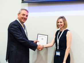 Dr Maria McGill, first prize winner of the 2015 Ansell Proffered Paper competition