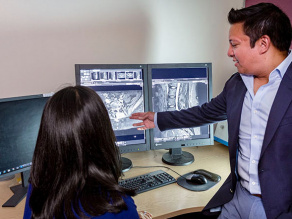 Radiologists examine patient's scans