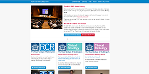 A screenshot of the home page of the CPD video library