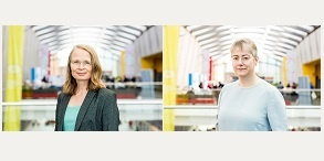 Portrait photos of Dr Caroline Rubin and Dr Jeanette Dickson
