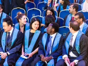 New Fellows interacting before the Admission Ceremony May 2018