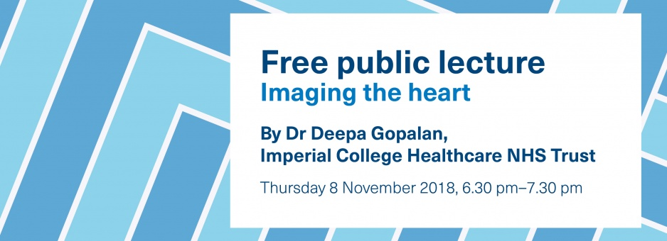 Free public lecture: imaging the heart