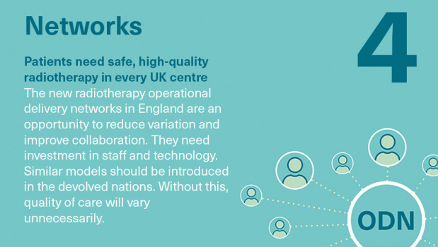 Radiotherapy priorities: networks. Patients need safe, high-quality radiotherapy in every UK centre