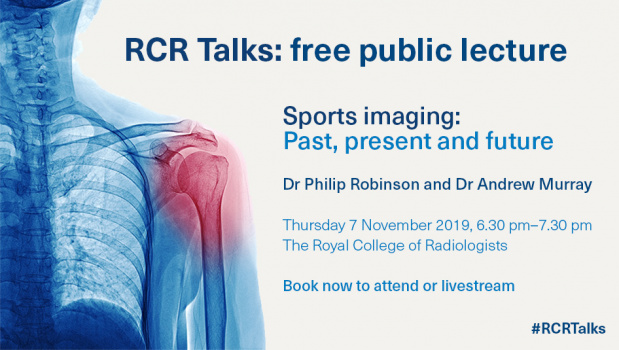 RCR Talks: free public lecture. Sports imaging:  Past, present and future